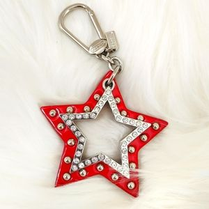 NEW Coach Studded Star Keychain / Purse Charm